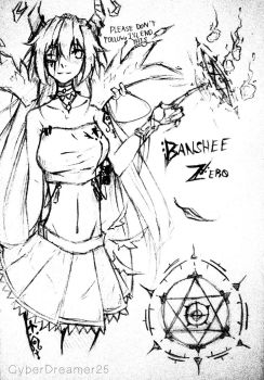 Banshee Zero Sketch by CyberDreamer25
