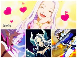 The faces of Mirajane by TheDemonLady
