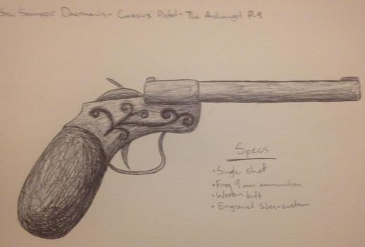 Reference: Cassius' Pistol by FrauKarikatur