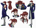 Kakyoin part 4 dimond is unbreakable  Sheet by zinni
