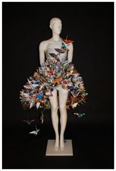 Paper Crane Dress III by jaaadey