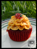 Lady Bug Cupcake by DOC-Ash1391