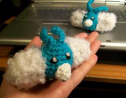 Tiny Swablu Crochet Plush by First-Mate-Kate