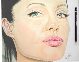 Painting - Angelina Jolie by Romeoartist