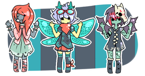 Monster girls {Set 4} {CLOSED} by Eeyrie