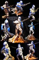 Star Wars Clone Trooper Blue C by SurfTiki