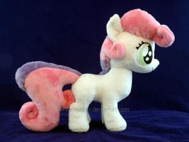 Sweetie Belle Plushie Side by WhiteHeather