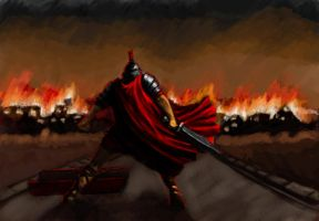 Roman and the burning city 2 by Bowly69