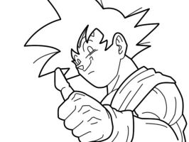 goku lineart 2 by zignoth