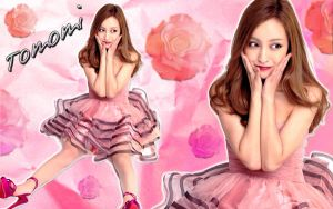 Wallpaper tomomi itano rose ver 2 by RainboWxMikA
