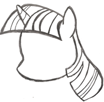 My Little Pony Sketch - Twilight Sparkle's Head by AncientOwl