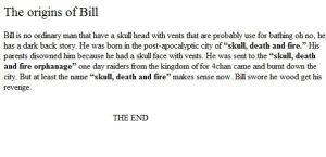 the origins of bill by kingofeverything10