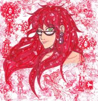 Grell Sutcliff: Lady in Red by MorianBloodmoon