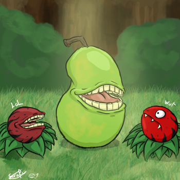 Pear overlord of the Fangberries by WaddleBih
