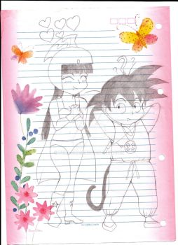 Goku and Chichi by temi-chan