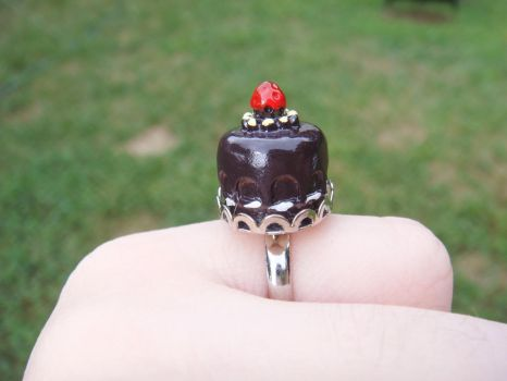 Kawaii Chocolate Cake Ring by kjtgp1