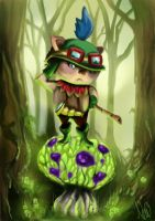 Capt'n Teemo on duty by RadioactiveNemofish