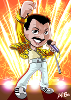 Queen Freddie Mercury Art Card by kevinbolk