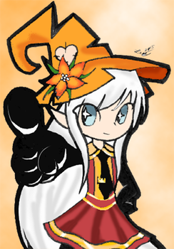 Orange Witch Coloring (for Valora) by UltraFalcon