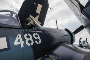 Goodyear FG-1D Corsair 'Whistling Death' by arejaye