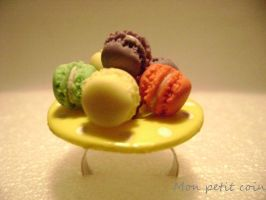 Ring with macaroons by monpetitcoin