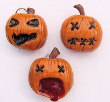 3 pumpkins by MotherMayIjewelry