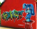 Kampagnarts2014 blue rabbit - K-baret by YoulDesign