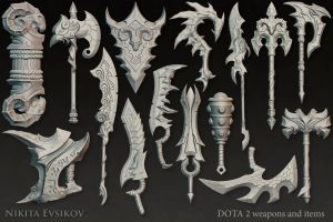 Dota 2 Weapons and Items by mgn-nikey