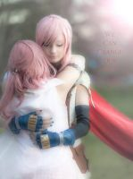 Serah and Lightning cosplay by mayuyu0405
