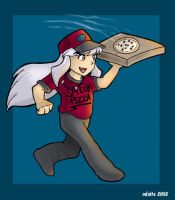 Inu teh Pizza Boy? by Caliosidhe
