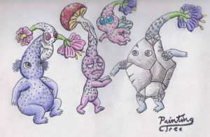 Pikmin purple, white and more by PaintingTree