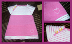 Pink Valentines dress for little sister by KnitLizzy