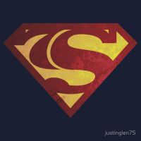 Superman 75th Anniversary Logo by justinglen75
