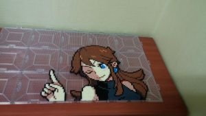 Pokemon Special Trainer Blue(Perler bead) by skyin2020