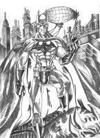 Batman WIP Gray tones by JamesLeeStone