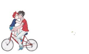 A Bike for Two by pocket-picasso
