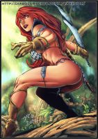 Red Sonja - Ed Benes - by diabolumberto