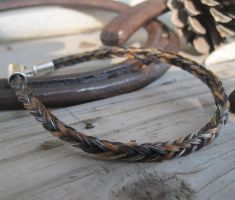 Braided Horsehair Bracelet - Hot Girl and Buddy by TarpanBeadworks