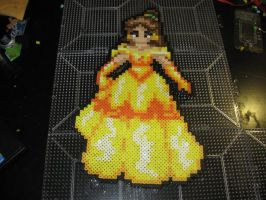perler Disney Princess Belle Beauty and the Beast by rushtalion