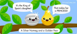 A Silver Nutmeg and a Golden Pear by FruityCuties