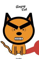Angry Cat Vector. by swordfishll