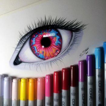 Opal Eye Drawing by LethalChris