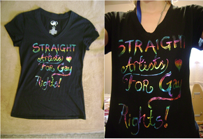 Gay Rights Tee by sashabrambleshadow