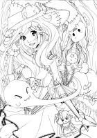 Forrest of Witches - Lineart by Saviee