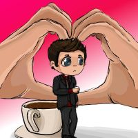 Ianto Jones: Coffee Chibi by moonrush