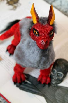 Red dragon. Art doll.Comission for XxAlicesterxX by RedFoxAlice
