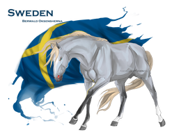 Horse Hetalia:  Sweden by MUSONART