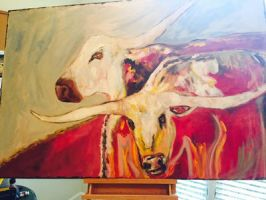 Longhorn abstract  by ltwilson0009