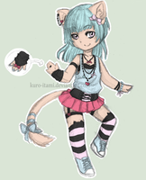 pastel neko adoptable auction ! [CLOSED] by kuro-itami