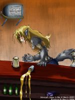 Werewolf Change in Bar-Recolor by Barrin84